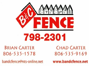 B & C Fence Contact Information